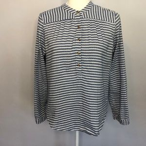 Abercrombie & Fitch Blue & White Stripe Top Small